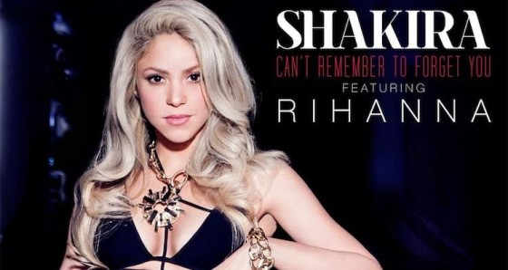 Shakira can't remember to forget you
